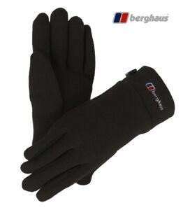 Berghaus Unisex Polartec Warm Fleece Gloves Small Walking Hiking Black RRP NEW