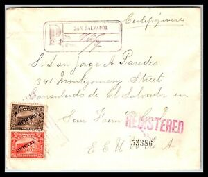 GP GOLDPATH: EL SALVADOR COVER 1920 REGISTERED LETTER _CV743_P10
