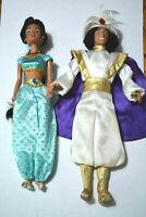 Disney Aladdin & Jasmine barbie lot of 2 - Prince Ali & Princess Jasmine dolls