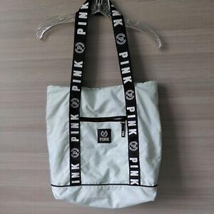 Victoria's Secret PINK Large zippered teal blue Tote Bag