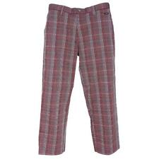 Oakley SWAGGER PANT 2.0 Size 34 Mens Rhone Red Plaid Casual Golf Pants