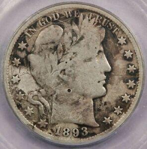 1893-S 1893 Barber Half Dollar ICG VG8 Details Scratched Damaged Corroded