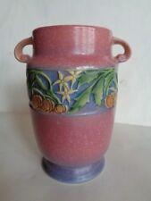 "Vintage Original Roseville Pottery Baneda 592-7"" Vase. Beautiful Look!"