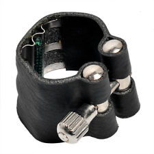 Soprano Saxophone Ligature Sax Accessories Black Leather