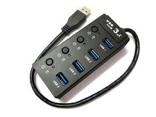 5Gbps USB 3.0 Multiple 4 Port Hub Adapter For PC Laptop Support Windows 7 Win 8