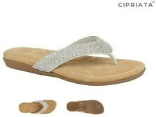 Ladies Flip Flops Toe Post Sandals Sparkly Diamante Size 3-9 UK
