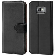 Book Case für Samsung Galaxy S2 Hülle Tasche Flip Cover Handy Schutz Hülle