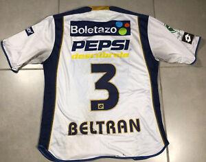 Men's PUMAS UNAM BELTRAN #3 Mexico Sz M Mexican Soccer Futbol White Jersey