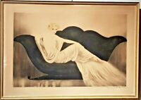 Louis Icart The Sofa   Art Deco Original Limited Edition Etching  Rare d. 1937