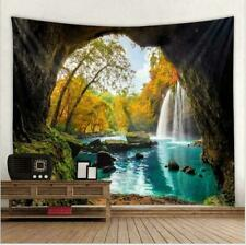 Waterfall Scenery Nature Landscape Tapestry Wall Hanging Bedspread Home Decor