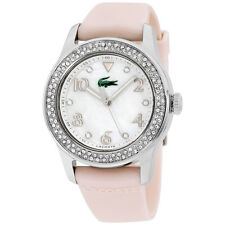 Lacoste Advantage 38 mm Mother of Pearl Dial Rubber Strap Ladies Watch 2000663
