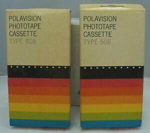 2 Polaroid Polavision Phototape Cassette Type Film 608 Land Player Camera NOS