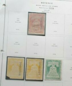Buffalo Stamps:  Min Motor Vehicle Collection on Pages
