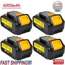 4X For DEWALT DCB200-2 DCB204-2 20V Max 6.0Ah 20Volt XR Lithium-Ion Battery Pack