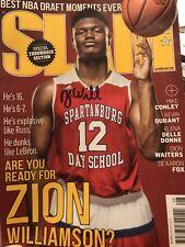 ZION WILLIAMSON signed Autographed Slam Magazine NBA Future Star JSA