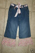 Old Navy Girls 3T Embellished Boutique Ruffle Cuf Jeans