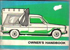 Simca Talbot 1100 Van & Pick Up High Top Original Owners Handbook