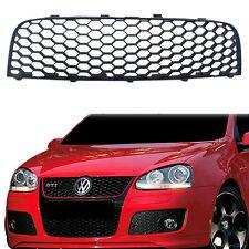 Badgeless Black Front Sport Honeycomb Hex Mesh Grill of VW GTI Jetta MK5 5 06-09