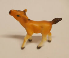 Vintage Miniature Horse / Colt Figurines  Japan Bone China Light Brown