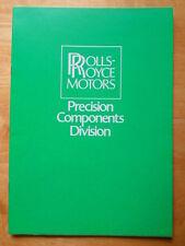 ROLLS ROYCE Motors Precision Components Division 1980 brochure - Aerospace etc
