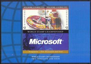 SINGAPORE 2003 GLOBAL CITY (COMMUNICATION & TECHNOLOGY) MICROSOFT SOUVENIR SHEET