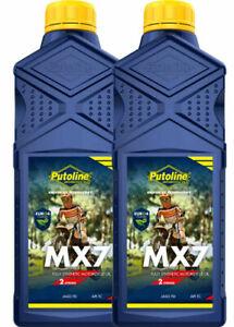 Putoline MX7 Fully Synthetic 2 Stroke Motocross Motor Bike Pre Mix Oil -  2 X 1L