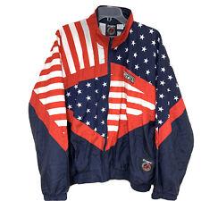 Vintage Otomix Jacket L American Flag USA Spellout Patriotic Nylon Stars Stripes