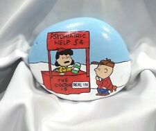 Hand Painted Rock Lucy & Charlie Brown Lucy's Advice Booth Peanuts Collectible
