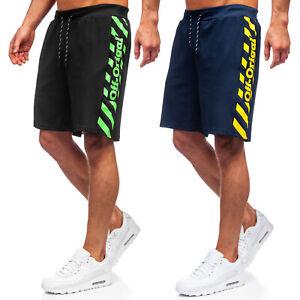 Kurzhose Bermudas Shorts Sporthose Kurze Fitness Jogging Sport Herren BOLF Print