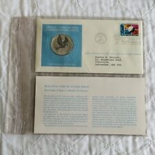 UNITED NATIONS 1975 1st EDITION 40mm SILVER PROOF MEDAL - USE OF OUTER SPACE