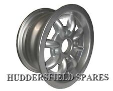 5x10 Silver (all over) Minilight Style Alloy Wheel Only for classic Mini.