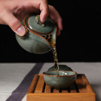Chinese Longquan Celadon Tea Set Portable Kung Fu Tea Set A Pot and Two Teacup