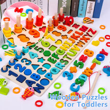 Kids Educational Montessori Math Toys Games Counting Board Preschool Learning