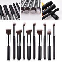10 Pcs/Set Kabuki Make-up Brush Foundation Blusher Face Powder Brushes 3 Color #