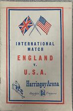 More details for ice hockey - england v usa, harringay arena 1947