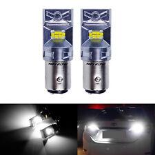 Paire 1157 BAY15d P21/5W LED Ampoules 10W Feux de Recul Frein Jour Arrière Blanc
