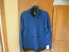 Nwt Men's Champion C9 Sport Victory Fleece Tunic Blue Cowl Pullover Xl