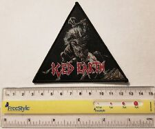 ICED EARTH  - Limited edition patch -WOVEN SEW ON PATCH - free shipping