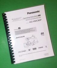 LASER PRINTED Panasonic AG-HMC80P Video Camera 126 Page Owners Manual Guide