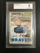 1967 TOPPS #250 HANK AARON BVG 6 EX-MT HALL OF FAME