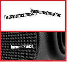 2 X de aluminio de Harman Kardon altavoz con el logotipo emblema Insignia etiqueta de BMW Mini Benz Audi