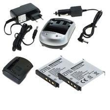 2x Akku und Ladegerät für KLIC-7001 KLIC7001 für Kodak Easyshare M763, M853, M86
