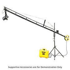 Proaim DSLR DV 14ft Camera Jib Crane Tripod Stand Jr. Pan Tilt Head + Power Pack
