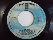 The Eagles Life In The Fast Lane / The Last Resort 45 1976 Asylum Vinyl Record
