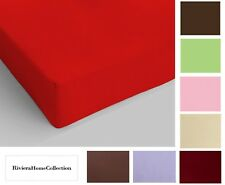 Riviera. Stretched - Fitted Sheet with Corners 100% Cotton Single, 1 Square.