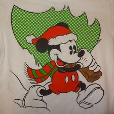 Mickey Mouse Christmas Tree Shirt White Long Sleeve size 3T Old Navy Disney