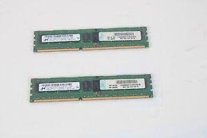 Micron MT18JSF25672PDZ-1G4F1DD DDR3-1333 2GB 2RX8 PC3-10600R RAM Memory Lot De 2
