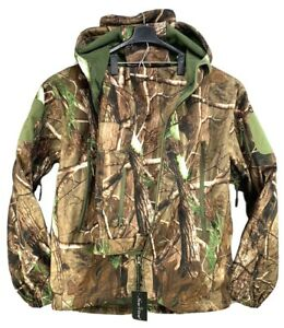 NEW VIEW Mens 2XL Camo Tree Hunting Suit Silent Water Resistant Jacket & Pants