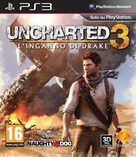 Uncharted 3: Drake's Deception (Sony PlayStation 3, 2011) PAL UK BLACK LABEL!