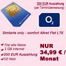 comfort Allnet Flat LTE + 2 GB - 384 € O2 Handyvertrag Sim Karte Fla alle Netze
